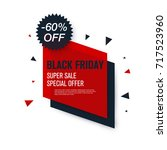 black friday sale label. stock... | Shutterstock .eps vector #717523960