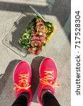 gym foot paleo diet fitness...   Shutterstock . vector #717528304