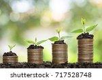money growing concept business... | Shutterstock . vector #717528748