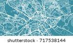 detailed vector map of leeds ... | Shutterstock .eps vector #717538144