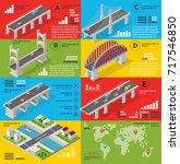 infographics of bridges in the... | Shutterstock .eps vector #717546850