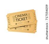 cinema ticket card. vector... | Shutterstock .eps vector #717554059
