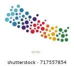 dotted texture nepal vector... | Shutterstock .eps vector #717557854