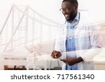 positive doctor making... | Shutterstock . vector #717561340