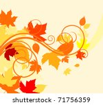 Autumn colorful leaves background for thanksgiving design. Vector version also available in gallery - stock photo