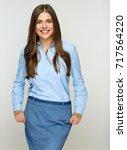 successful business woman... | Shutterstock . vector #717564220