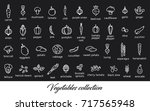 vegetables collection. healthy... | Shutterstock .eps vector #717565948