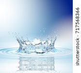 water splash in dark blue color ... | Shutterstock . vector #717568366
