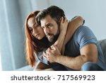 pleasant attractive woman... | Shutterstock . vector #717569923