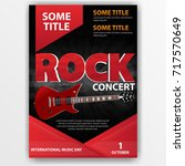 poster for a rock concert ... | Shutterstock .eps vector #717570649