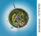 360 degree sphere. panorama of...   Shutterstock . vector #717576703