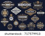 mega pack of banners and labels | Shutterstock .eps vector #717579913