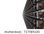 design element. 3d illustration.... | Shutterstock . vector #717585130