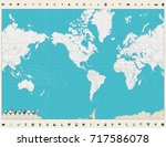 world map americas centered map ... | Shutterstock .eps vector #717586078