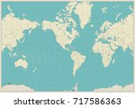 world map americas centered map.... | Shutterstock .eps vector #717586363