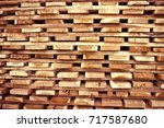 stock of timber wood... | Shutterstock . vector #717587680