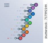 infographics timeline template... | Shutterstock .eps vector #717592144