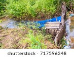 native thai fish trap made from ... | Shutterstock . vector #717596248