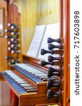 detail of the organ music of... | Shutterstock . vector #717603898