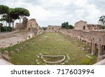panorama palace of domitian ... | Shutterstock . vector #717603994