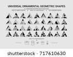 vector geometric constructor...   Shutterstock .eps vector #717610630