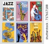 poster for the jazz festival... | Shutterstock .eps vector #717617188