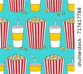 collection of popcorn and... | Shutterstock .eps vector #717617788