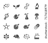 biotechnology icons | Shutterstock .eps vector #717618979