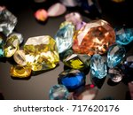jewel or gems on black shine... | Shutterstock . vector #717620176