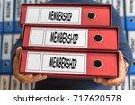 membership concept words.... | Shutterstock . vector #717620578