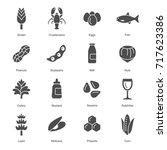 allergens icons | Shutterstock .eps vector #717623386