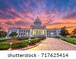 little rock  arkansas  usa at... | Shutterstock . vector #717625414