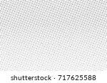black white dotted halftone... | Shutterstock .eps vector #717625588
