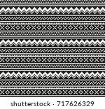 seamless geometric pixel pattern | Shutterstock .eps vector #717626329