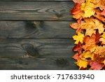 textured vintage rustic wooden...   Shutterstock . vector #717633940
