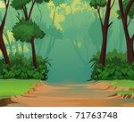 jungle background   pleasant...   Shutterstock . vector #71763748