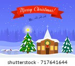 Rural Festive Landscape With A...