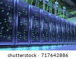 data processing center. server... | Shutterstock . vector #717642886