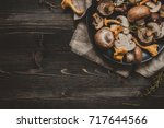 Fresh Mixed Forest Mushrooms O...