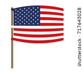flag united states of america... | Shutterstock .eps vector #717645028
