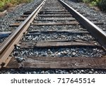 Close View Of Old Railroad...