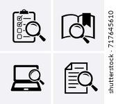 case studies icons set. vector... | Shutterstock .eps vector #717645610