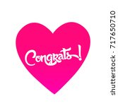 congrats  beautiful greeting... | Shutterstock .eps vector #717650710
