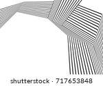 black and white stripe line... | Shutterstock .eps vector #717653848