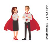 business superheroes concept.... | Shutterstock .eps vector #717654544
