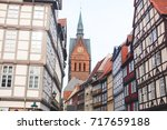 Stock photo beautiful summer view of hannover old town germany lower saxony 717659188