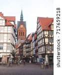 Stock photo beautiful summer view of hannover old town germany lower saxony 717659218