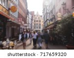 Stock photo beautiful summer view of hannover old town germany lower saxony 717659320