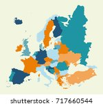 colorful europe map   Shutterstock .eps vector #717660544