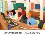 a vector illustration of female ...   Shutterstock .eps vector #717660799